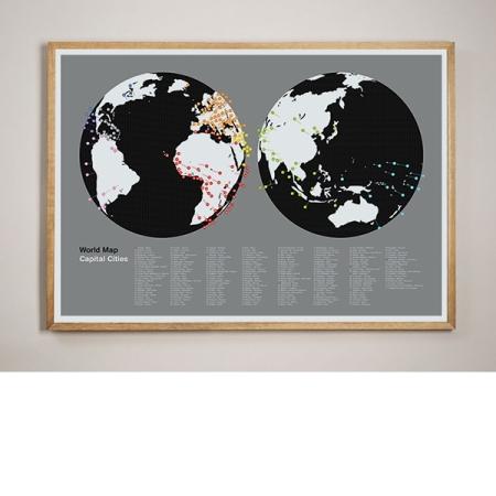 globe framed