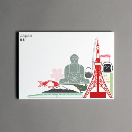 Iconic postcard lr